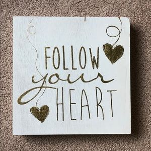 Follow your heart wall accent 10x10